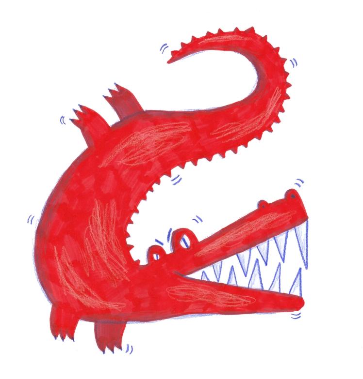 coccodrillo rosso